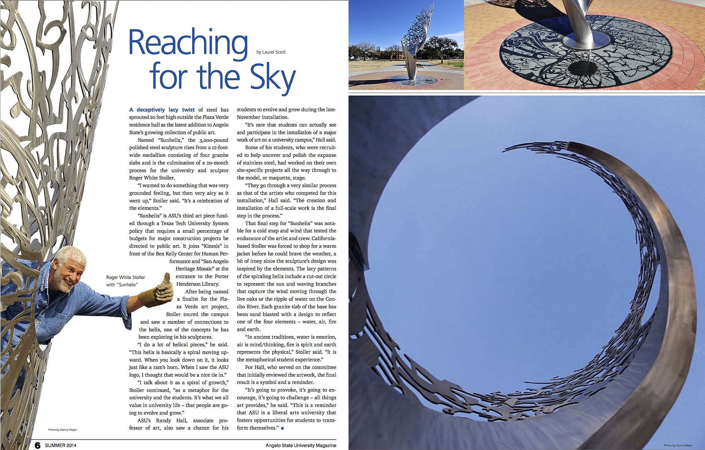Reaching for the Sky article